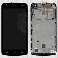 Дисплей + touchscreen (сенсор) для Fly IQ4503 ERA Life 6 Quad, с передней панелью, оригинал (черный)