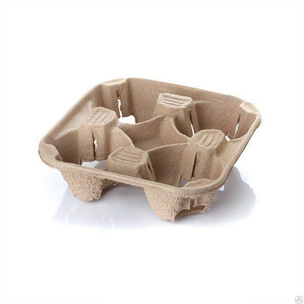 Картонний тримач для стаканів, 4 секції (холдер)