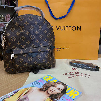 Рюкзак Louis Vuitton монограм средний на тонких лямках, фото 3