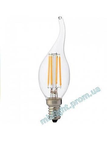 Светодиодная лампа Filament Flame 6W 2700K E14, фото 2