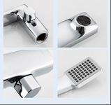 Короткий квадратный смеситель для ванны на борт однорычажный с выдвижной лейкой латунь - Frap F1146, фото 3