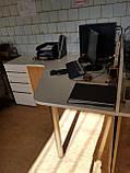 Стіл офісний кутовий 1350х1200, б/у, фото 4