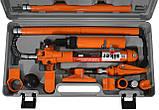 Растяжка гидравлическая Siker 10 тонн для СТО и гаража в кейсе, фото 2