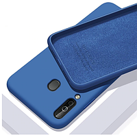 Чехол Silicone Case full для Huawei P40 Lite E Navy Blue (хуавей п40 лайт е)