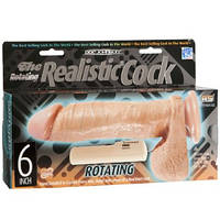 Фаллоимитатор с вибрацией Rotating Realistic 6 Inch