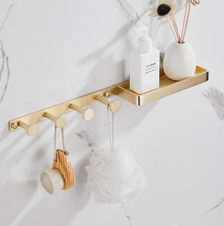 Настенные крючки для ванной комнаты + полочка. RD-634