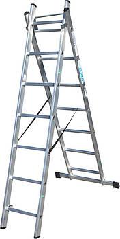 Лестница ELKOP VHR Trend 2x7 алюминиевая, 2 секции, 7 ступеней
