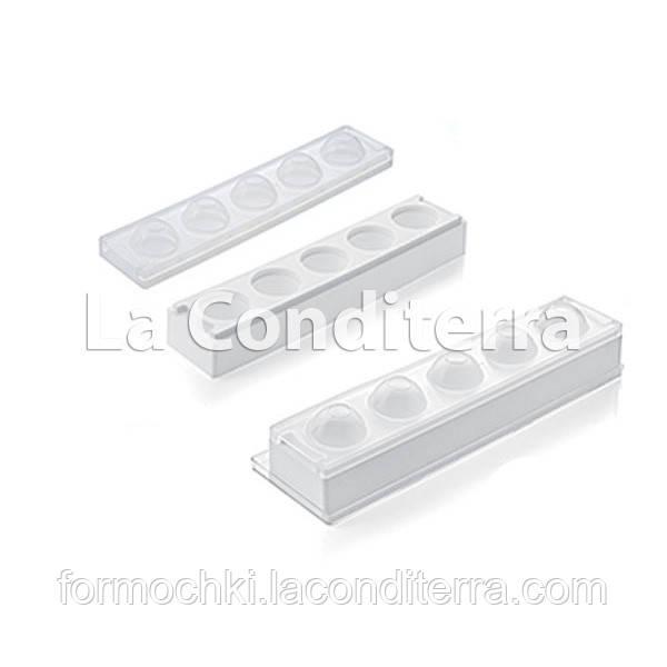 Силиконовые формы для десертов SILIKOMART MUL3D EGG (5 ячеек, d=50 мм, объем=100 мл)