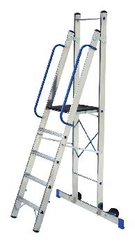 Стремянка-помост ELKOP TOR 705 алюминиевая, 5 ступеней, 2192 мм