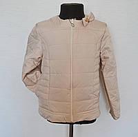 Детская куртка на девочку 5-8лет бежевого цвета, демисезонная, фото 1