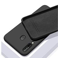 Чехол Silicone Case full для Huawei P40 Lite E Black (хуавей п40 лайт е)
