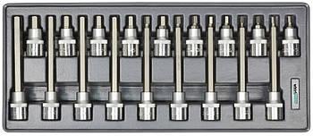 """Набор головок Whirlpower со вставкой Hex 1/2"""" Н5-Н19 18 ед. в ложементе"""