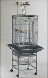 ROTWIS Вольер для большого попугая на подставке c открывающимся верхом