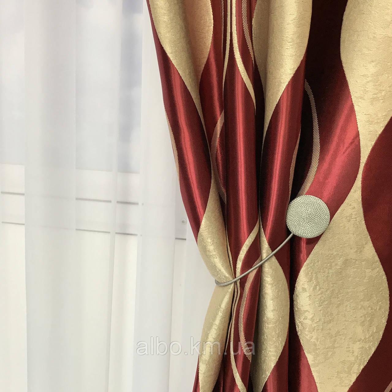 Блэкаут шторы плотные в зал спальню комнату кабинет, комплект готовых штор для спальни хола зала квартиры