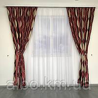 Блэкаут шторы плотные в зал спальню комнату кабинет, комплект готовых штор для спальни хола зала квартиры, фото 3