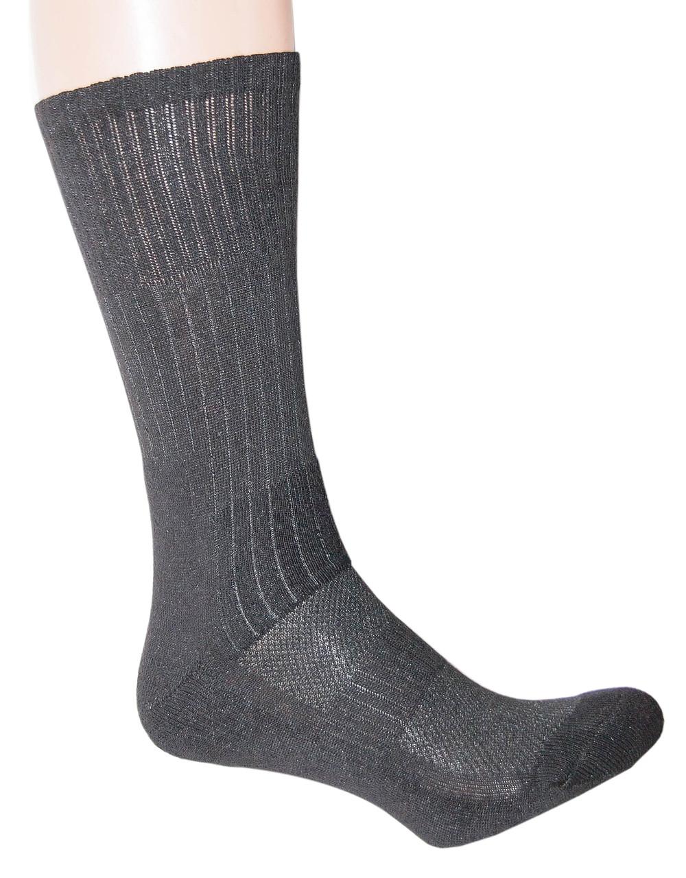 """Трекинговые носки с текстурными термозонамы """"BLACK"""""""