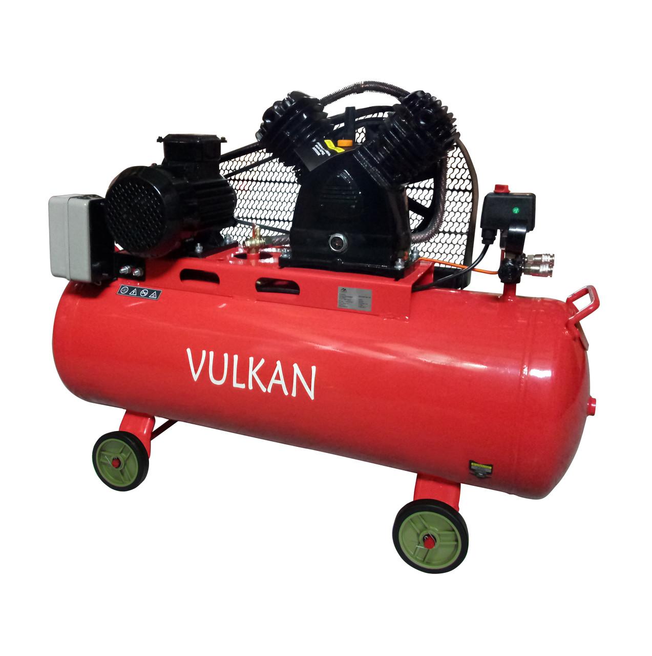 Компрессор воздушный Vulkan IBL 2070E-380-100 ременной 2.2 кВт