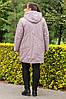 Женская зимняя теплая куртка большого размера, фото 4