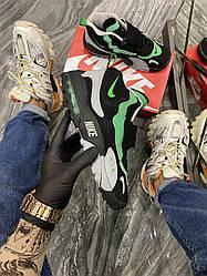 Мужские кроссовки Nike Air Max Speed Turf Black Green (черные)