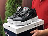 Мужские демисезонные кроссовки Fila Disruptor 2 black/white (черно-белые), фото 2