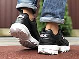 Мужские демисезонные кроссовки Fila Disruptor 2 black/white (черно-белые), фото 3