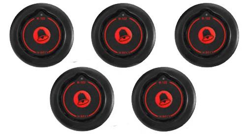 Фото: кнопки виклику офіціанта R-102 - 5 штук - комплект системи виклику RECS №16