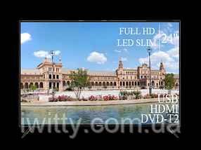 "Телевізор Liberton 24"" FullHD/DVB-T2/USB, фото 3"
