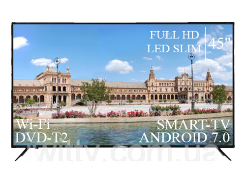 "Телевизор Liberton 45"" Smart-TV/Full HD/DVB-T2/USB Android 7.0"