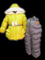 Желтенький зимний костюм для девочки. 80,  92, 98