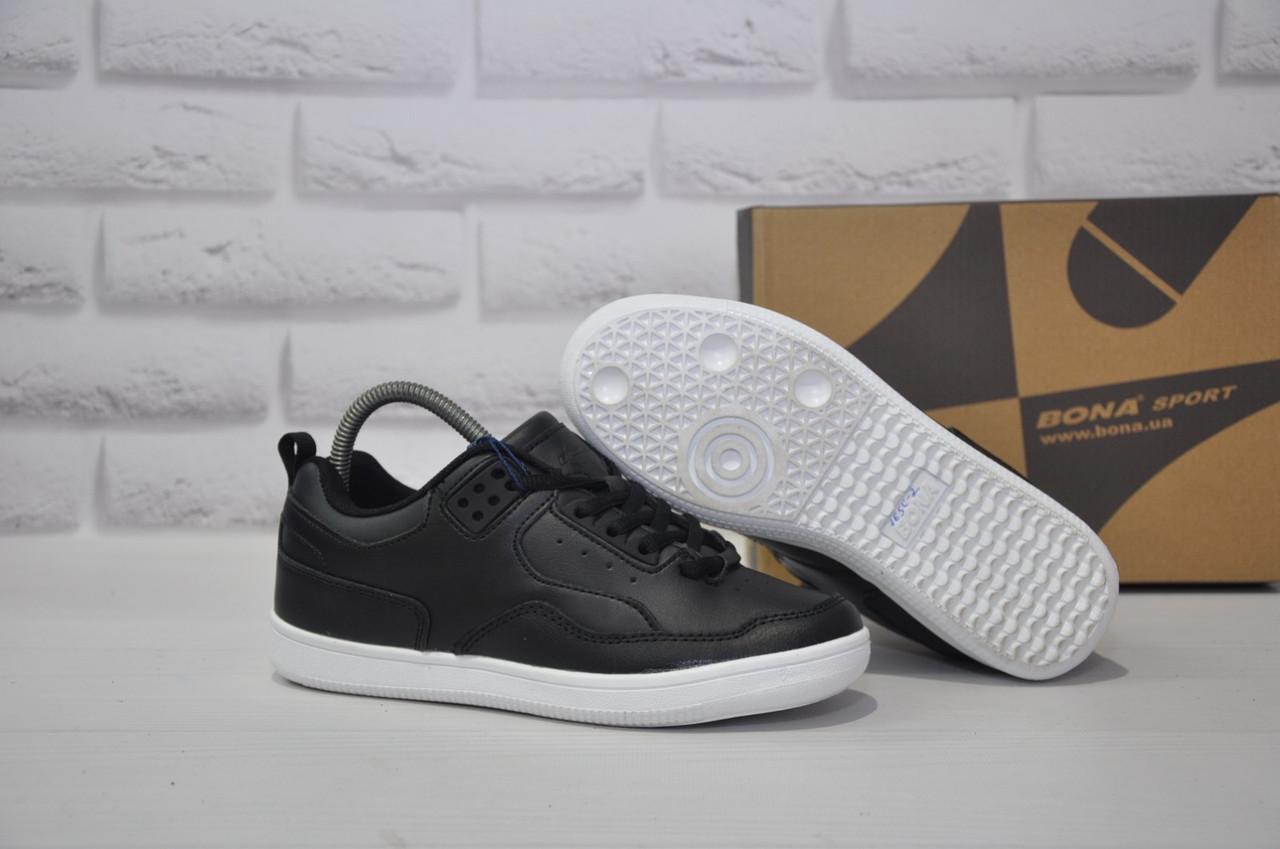 Подростковые черные кроссовки, криперы натуральная кожа BONA(размеры в наличии:36-41)