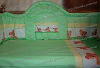 Детское постельное белье в кроватку. Защита - 40 см детскую кроватку., фото 1