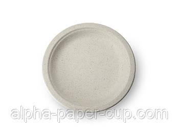 Тарелка d180 БИО, пшено из прессованного картона, 50 шт/уп, 20 уп/ящ.