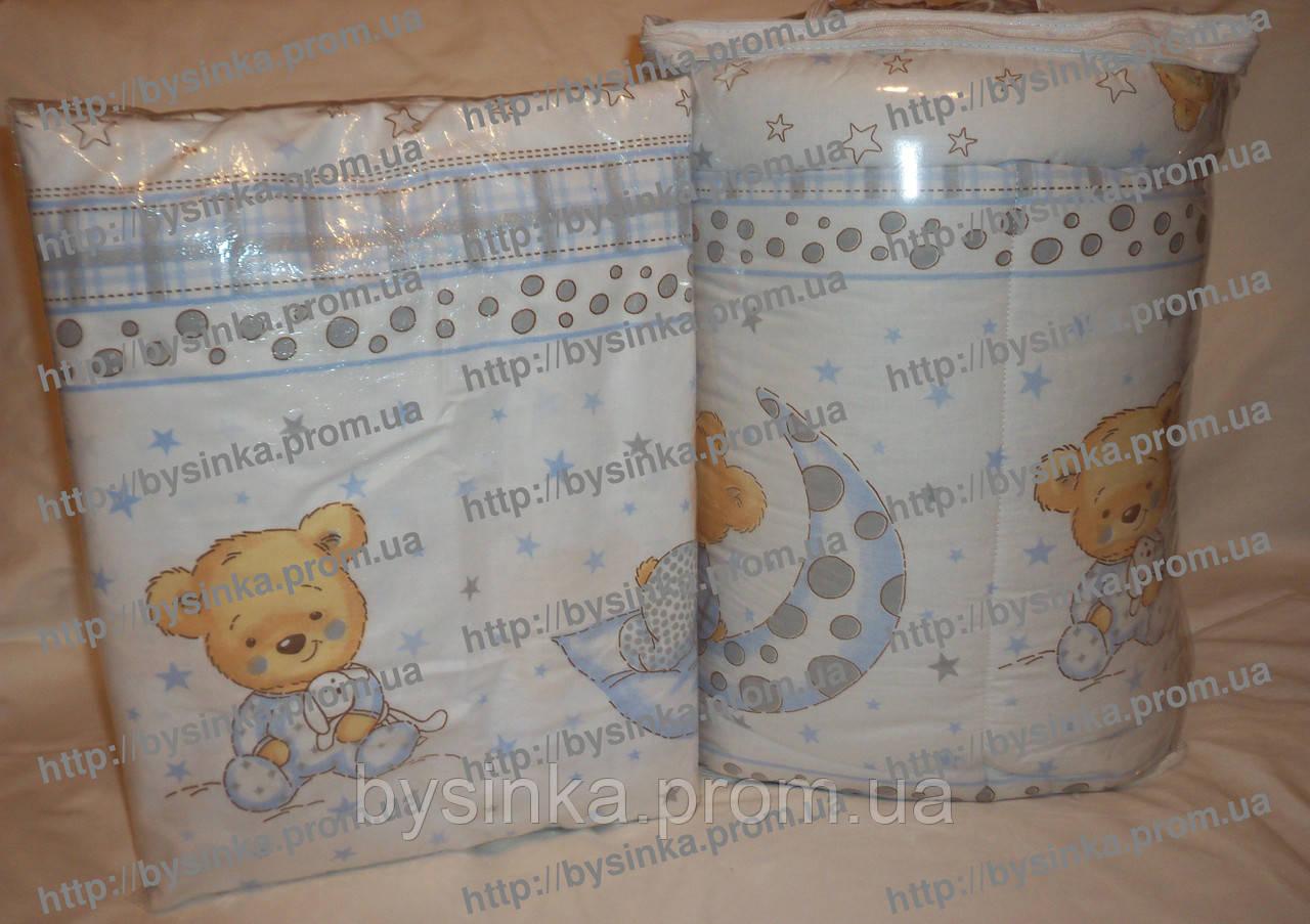 Бампер сплошной- защитный, высокий в кроватку новорожденного