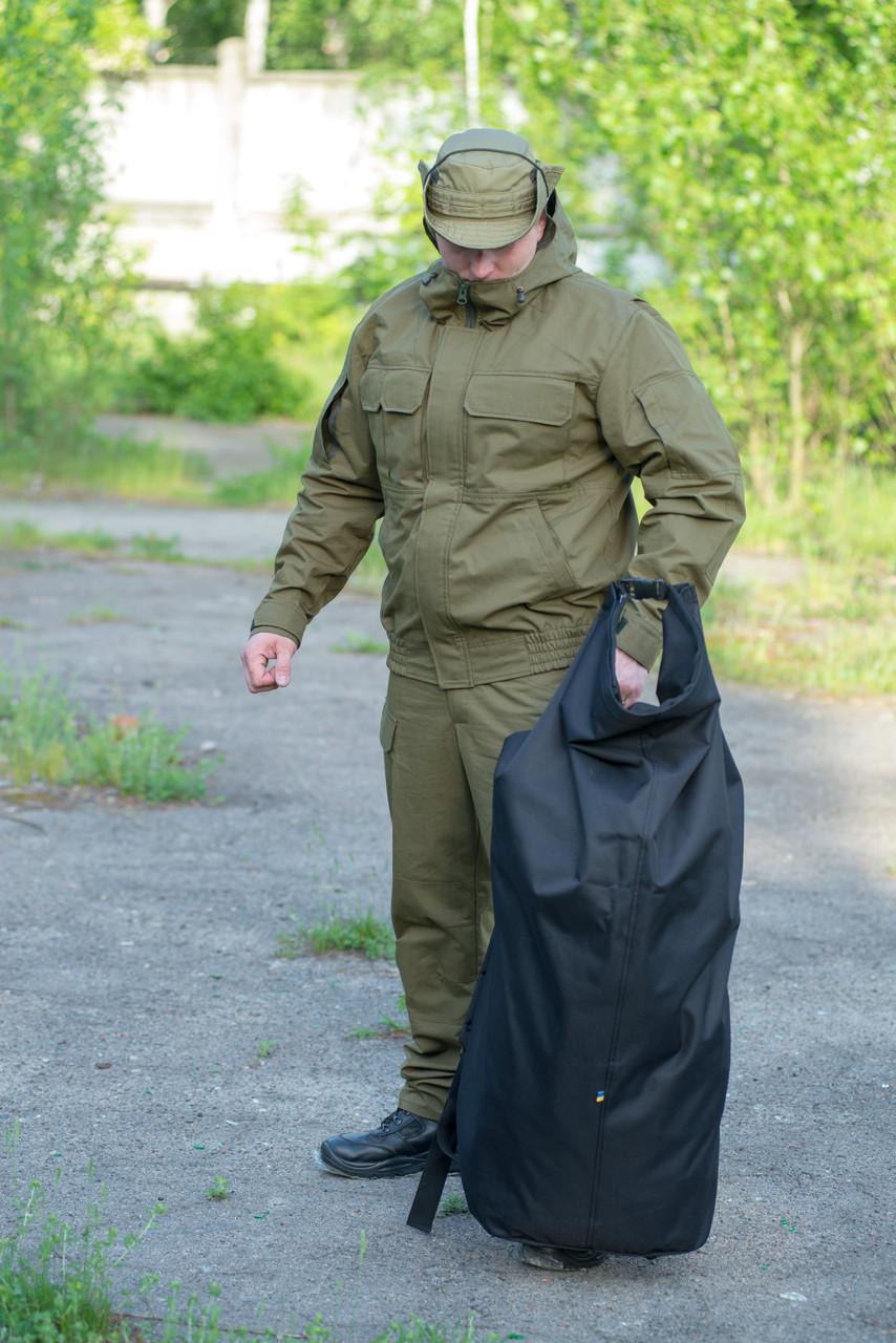 Баул вещевой армейский 100 литров (BLACK)