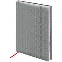 Ежедневник датированный в линию Brunnen 2021 Стандарт Soft Carbon, 336 страниц, А5 мягкая обложка серый