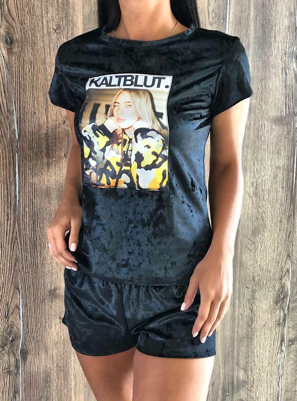 Велюрова модна піжама Billie Eilish 609 .