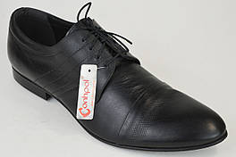Туфли мужские кожаные Conhpol 2472 черные 45 размер