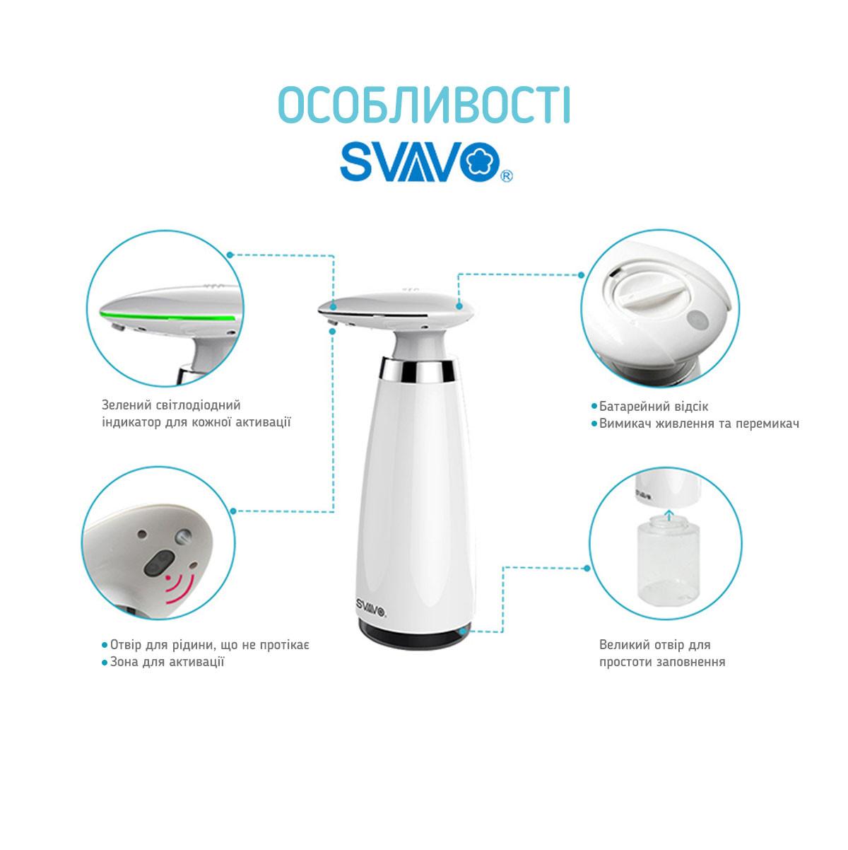 Автоматический диспенсер дозатор для гелевого антисептика SVAVO 4
