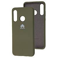 Чехол Silicone Case full для Huawei P40 Lite E Olive (хуавей п40 лайт е)