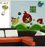 Наклейки на стену виниловые Angry Birds 15 шт., фото 2