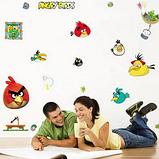 Наклейки на стену виниловые Angry Birds 15 шт., фото 4