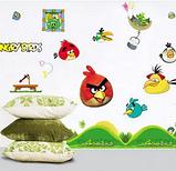 Наклейки на стену виниловые Angry Birds 15 шт., фото 3
