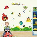 Наклейки на стену виниловые Angry Birds 15 шт., фото 5