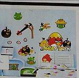 Наклейки на стену виниловые Angry Birds 15 шт., фото 6