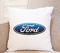 Подушка в машину. Подушка Ford. (Практичный подарок водителю)