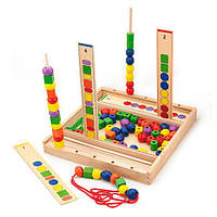 Обучающий набор Viga Toys Шнуровка логика (56182)