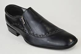 Туфли мужские Conhpol 1140  черные кожа 44,45 размер