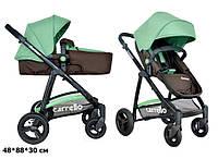 Универсальная коляска-трансформер 2в1 CARRELLO Fortuna CRL-9001 BROWN&GREEN