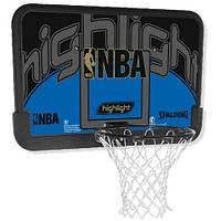 Щит баскетбольный игровой Spalding NBA Highlight Backboard 112х73,5 см (30 01673 01 1144)