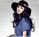 Женская шляпа с широкими полями с жемчужинами модний весняно-осінній капелюх, фото 2